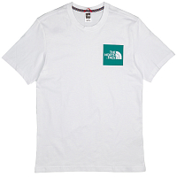 The North Face M S/S FINE TEE TNF WHIT/PGREEN(2GZ)