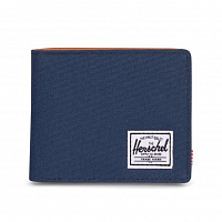 Herschel HANK LEATHER RFID Navy/Tan Synthetic Leather