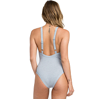 RVCA PIPELINE ONE PIECE HEATHER GREY