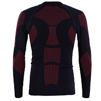 BODY DRY KANGCHENJUNGA LONG SLEEVE SHIRT BLACK/RED