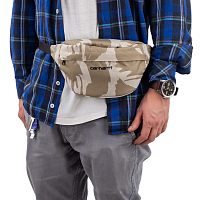 Carhartt WIP PAYTON HIP BAG CAMO BRUSH, SANDSHELL / BLACK