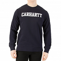 Carhartt WIP COLLEGE SWEATSHIRT DARK NAVY / WHITE