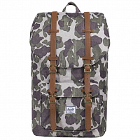 Herschel Little America Frog Camo/Tan Synthetic Leather