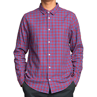 RVCA HAYES FLANNEL LS POMPEI RED