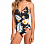Roxy DR DA RE 1PC J ANTHRACITE TROPICAL LOVE SW