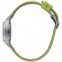 Nixon SMALL TIME TELLER LEATHER NAVY/NEON YELLOW