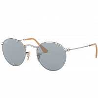 Ray Ban ROUND METAL SILVER/PHOTO BLUE