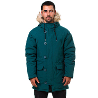Footwork AMUT PARKA DEEP TEAL-BLACK