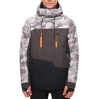 686 MNS GEO INSL JKT GREY CAMO COLOR BLOCK