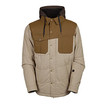 686 AUTHENTIC WOODLAND INS JACKET KHAKI HERRINGBONE