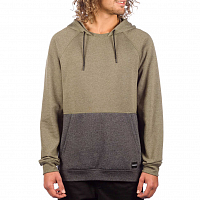 Hurley M CRONE BLOCKED PULLOVER OLIVE CANVAS HTR