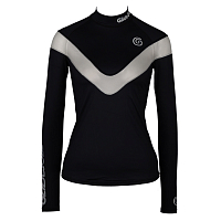 Glidesoul V-STYLE LONG SLEEVE RASHGUARD BLACK/WHITE