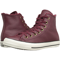 CONVERSE CHUCK TAYLOR ALL STAR WINTER KNIT + FUR HI DEEP BORDEAUX/BLACK/EGRET
