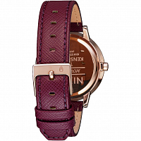 Nixon Kensington Leather Rose Gold/Bordeaux