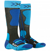 X-Socks SKI JR 4.0 ANTHRACITE MELANGE/ELECTRIC BLUE