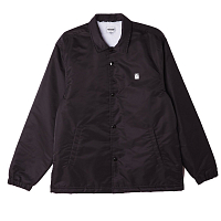 OBEY ICON FLIGHT SATIN JACKET BLACK