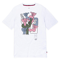 Herschel MEN'S TEE GROUP HANDS BRIGHT WHITE