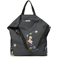 ENGINEERED GARMENTS CARRY ALL TOTE INDIGO DENIM FLORAL EMBROIDERY