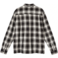 STUSSY BEACH PLAID SHIRT BLACK