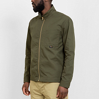 GARBSTORE ZIP OVER SHIRT GRN