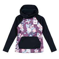 686 GIRLS BONDED PULLOVER HOODY BLACKBERRY FLOWER COLORBLOCK