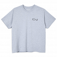 POLAR SKATE CO 3 Tone Fill Logo TEE SPORT GREY