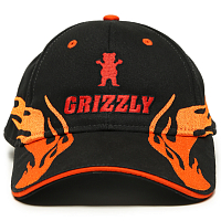 Grizzly FLAME THROWER STRAPBACK BLACK