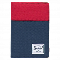 Herschel RAYNOR PASSPORT HOLDER RFID RED/NAVY/WOODLAND CAMO