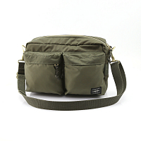 PORTER YOSHIDA FORCE SHOULDER BAG(S) Olive Drab