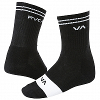 RVCA UNION SKATE SOCK BLACK