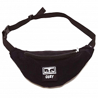 OBEY WASTED HIP BAG BLACK TWILL