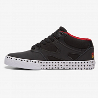 DC KALIS MID AC/DC M SHOE BLACK/WHITE/RED