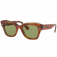 Ray Ban State Street HAVANA ON TRANSPARENT BEIGE/BOTTLE GREEN