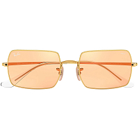 Ray Ban Rectangle SHINY GOLD/PHOTO ORANGE MIRROR GOLD