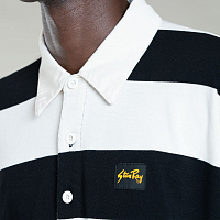 Stan Ray RUGBY SHIRT TONAL LHW CHEST EMBOIRDERY BLACK/NATURAL