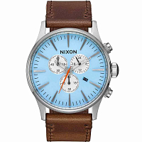 Nixon SENTRY CHRONO LEATHER Sky Blue/Taupe