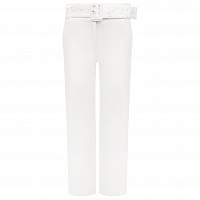Proenza Schouler White Label Belted Soft Cotton Pant OFF WHITE