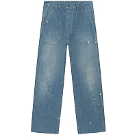 ORSLOW US NAVY UTILITY PANTS 3 YEAR WASH WITH PAINT CUT OFF