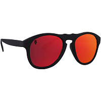 Majesty CRUX black/graphite with red mirror lenses polarized