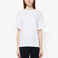 PROENZA SCHOULER WHITE LABLE CLASSIC SHORT SLEEVE SHIRT OFF WHITE