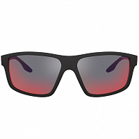 Prada Linea Rossa 0PS 02XS BLACK RUBBER/DARK GREY MIRROR BLUE/RED