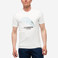 NORRONA 29 COTTON POWDER SKIER T-SHIRT PURE WHITE
