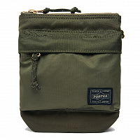 PORTER YOSHIDA FORCE SHOULDER POUCH Olive Drab