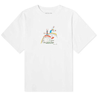 MARTINE ROSE Brittle T-shirt WHITE CARTOON