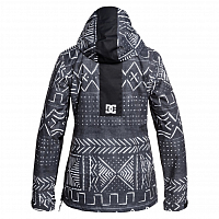 DC ENVY ANORAK J SNJT BLACK MUD CLOTH PRINT