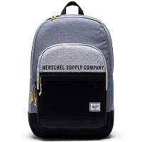 Herschel KAINE MID GREY CROSSHATCH/LIGHT GREY CROSSHATCH/BLACK