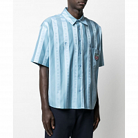 MARTINE ROSE Duel S/S Shirt LIGHT BLUE