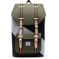 Herschel Little America BLACK/IVY GREEN/LIGHT GREY CROSSHATCH
