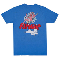 RIPNDIP CHERRY BLOSSOM TEE LIGHT BLUE