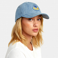 RVCA STAPLE DAD HAT DENIM
